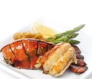 Cauda de lagosta grelhada Imagem de Stock Royalty Free