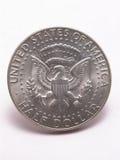 Cauda de prata do meio dólar de Kennedy fotos de stock