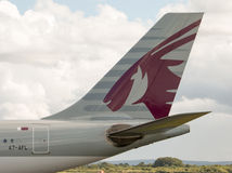 Cauda de Qatar Airways A330 Imagem de Stock Royalty Free