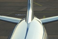 Cauda do avião Imagem de Stock