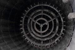 A cauda do motor de aviões do jato Foto de Stock