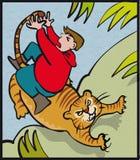 Cauda do tigre Fotos de Stock Royalty Free