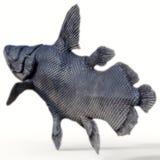 Cauda dos peixes de Mawsonia foto de stock
