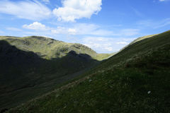 Caudale Moor Ridge. Sunlight on Stony Cove Pike Royalty Free Stock Photo