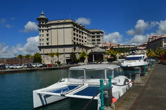 Caudan strand, Port Louis, Mauritius Royaltyfria Foton