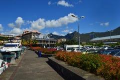 Caudan strand, Port Louis, Mauritius Royaltyfri Bild