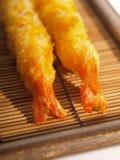 Caudas panadas do camarão Foto de Stock Royalty Free