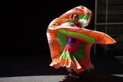 Caudillos台尔苏尔Mexican民间芭蕾,在地图 库存图片