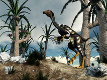 Caudipteryx dinosaur - 3D render Stock Photos