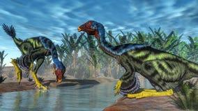 Caudipteryx dinosaur - 3D render Royalty Free Stock Image