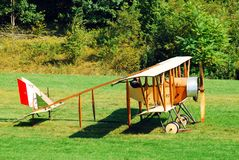 Caudron G III. A Caudron G III prepares for take off from a grass runway Stock Images
