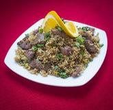 Chaufa de carne Peru. Chaufa de carne comida del Peru royalty free stock image