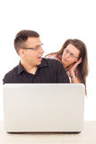 Caught in the act of love scam cheating over the internet Stock Photography