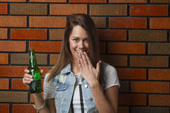 Caught with a beer Stock Photos