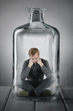 Caught in a bottle Royalty Free Stock Photos
