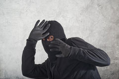 Caught burglar Royalty Free Stock Photos
