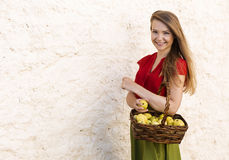 Caught on the countryside streets with fruits royalty free stock images