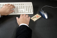 Caught by a hacker Stock Photography