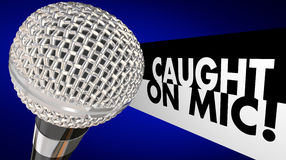 Caught on Microphone Interview Talk Words Royalty Free Stock Image