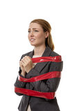 Caught up in red tape Stock Image