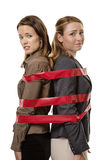 Caught up in red tape Royalty Free Stock Images