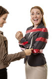 Caught up in red tape Stock Images