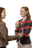Caught up in red tape Stock Photography
