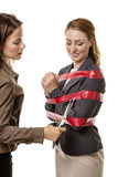 Caught up in red tape Royalty Free Stock Photos