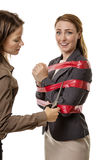 Caught up in red tape Stock Photos