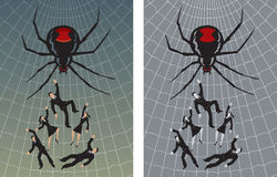 Caught in the web Stock Image