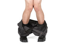 Caught with your pants down Stock Photo
