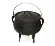 Cauldron. Cast-iron cauldron isolated on white Royalty Free Stock Photo