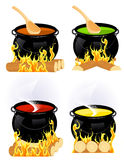 Cauldron collection stock photos