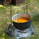 Cauldron cooking Stock Photography
