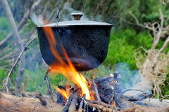 Cauldron Stock Photo