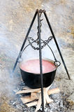 Cauldron on the fire Royalty Free Stock Photos