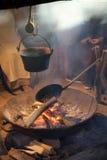 Cauldron on the fire Stock Photo