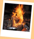 Cauldron on the fire. A cauldron on the fire Royalty Free Stock Images
