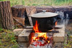 Cauldron Stock Photography