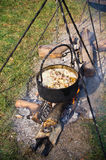 Cauldron over the fire Stock Photo