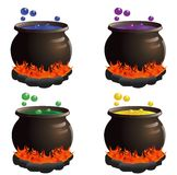 Cauldron Set Stock Photography