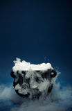 Cauldron: Spooky Halloween Cauldron with Smoke Royalty Free Stock Image