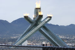 Cauldron Vancouver Olympics Stock Image