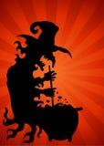 Cauldron Witch Background Royalty Free Stock Image
