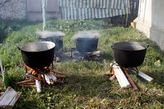 Cauldrons Royalty Free Stock Photos