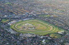 Caulfield Racecourse in Melbourne aerial view Royalty Free Stock Image
