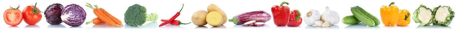 Caulif di verdure dei pomodori delle patate dell'alimento fresco delle carote delle verdure Immagini Stock Libere da Diritti