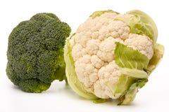 cauliflower брокколи свежий Стоковая Фотография