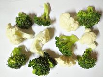 cauliflower брокколи свежий Стоковые Изображения