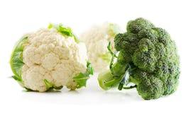 Cauliflower и брокколи Стоковое Фото